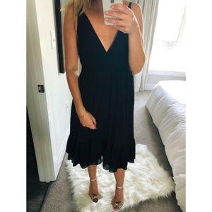 J.Crew Mid-Length Night Out Silk Dress Black 4